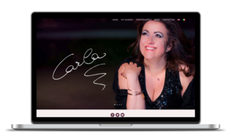 Custom one page website and blog design for carlaregina