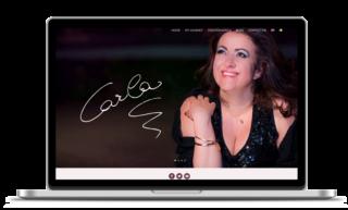 Custom one page website and blog design for carlaregina