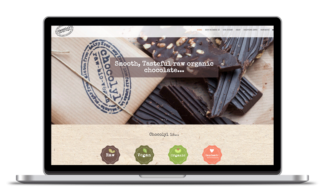 Custom web shop design for Chocolyl