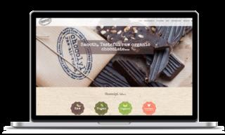 Custom web shop design for Chocolyl